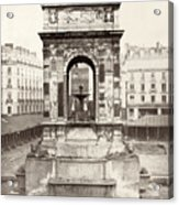 Paris Fountain, C1858 Acrylic Print