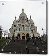 Paris France - Basilica Of The Sacred Heart - Sacre Coeur - 12125 Acrylic Print by DC Photographer
