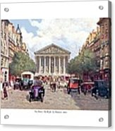 Paris France - The Rue Royal And The Madeleine - 1910 Acrylic Print