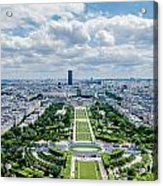 Paris From Above Acrylic Print