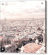 Paris From Above - View From Sacre Coeur Basilica Acrylic Print