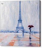 Paris In Rain Acrylic Print