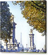 Paris In The Fall 1954 Acrylic Print by Chuck Staley