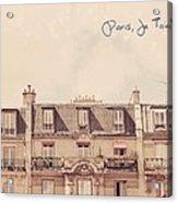 Paris Je T'aime Acrylic Print