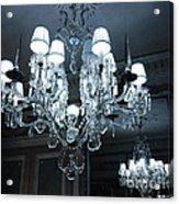 Paris Laduree Sparkling Crystal Chandelier - Laduree Chandelier Art Acrylic Print