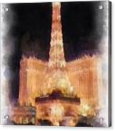 Paris Las Vegas Photo Art Acrylic Print