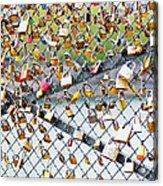 Paris - Locks Of Love Acrylic Print