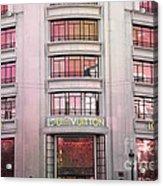 Paris Louis Vuitton Boutique Fashion Shop On The Champs Elysees Acrylic Print