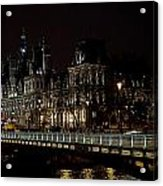 Paris Night Along The Seine Acrylic Print