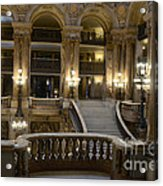 Paris Opera House Interior Romantic Staircase Balconies And Architecture  Acrylic Print by Kathy Fornal