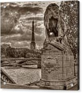 Paris Panorama Acrylic Print