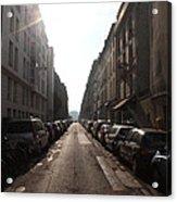 Paris Side Street Acrylic Print