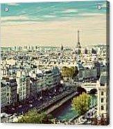 Paris Skyline France. Eiffel Tower Acrylic Print