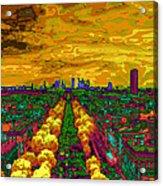 Paris Skyline Pop Art Acrylic Print