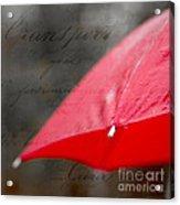 Paris Spring Rains Acrylic Print