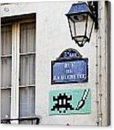 Paris Street Art - Space Invader Acrylic Print