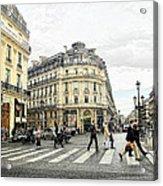 Paris Street Scene Acrylic Print