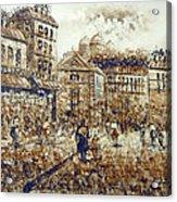 Paris Street Scenery Acrylic Print