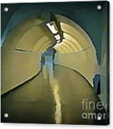 Paris Subway Connecting Tunnel Acrylic Print