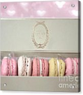 Paris Macarons Laduree Tea Shop Patisserie - Dreamy Laduree Box Of French Macarons - Paris Macarons Acrylic Print