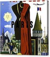 Paris Twa Acrylic Print by Mark Rogan