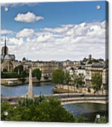 Paris View Notre Dame Acrylic Print