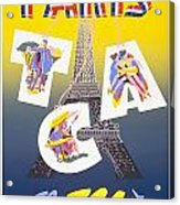 Paris Vintage Travel Poster Acrylic Print