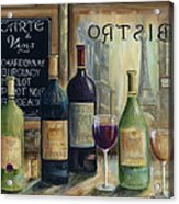 Paris Wine Tasting Acrylic Print by Marilyn Dunlap