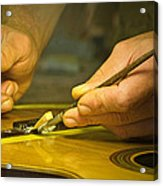 Parisian Luthier At Work Acrylic Print