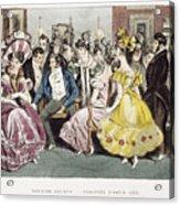 Parisian Salon, 1825 Acrylic Print