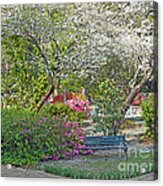 Park Bench Painting Acrylic Print