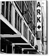 Park... Bw... Detroit Acrylic Print