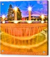 Park Fountain Acrylic Print
