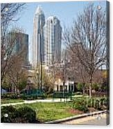 Park In Uptown Charlotte Acrylic Print
