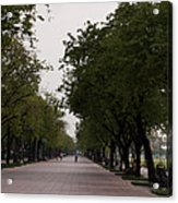 Park Leading To The King Of Thailands Palace Acrylic Print
