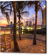Park On The West Palm Beach Wateway Acrylic Print
