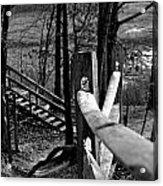 Park Trail Bw Acrylic Print