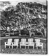 Park Under The Oaks Acrylic Print by Debra and Dave Vanderlaan