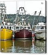 Parked Fishing Boats Acrylic Print