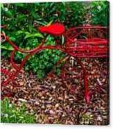 Parked Red Bicycle Acrylic Print