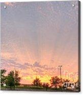 Parking Lot Sunset Spray Acrylic Print