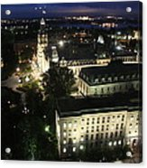 Parlament Quebec At Night  Acrylic Print