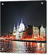 Parliament And The Danube Acrylic Print