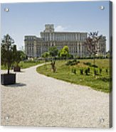 Parliament At Summer Bucharest Acrylic Print