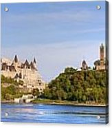 Parliament Buildings And The Fairmont Acrylic Print