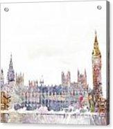 Parliament Color Splash Acrylic Print