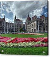 Parliament Garden Budapest Acrylic Print