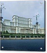 Parliament In Bucharest Acrylic Print