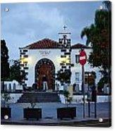 Parraquia De San Amaro. Puerto De La Cruz By Night Acrylic Print