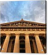 Parthenon From Below Acrylic Print